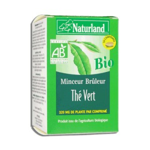 NATURLAND - TH&Eacute; VERT BIO - COMPRIM&Eacute;S