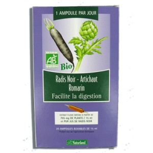 Naturland - Extrait fluide Bio - Radis noir, Artichaut, Romarin