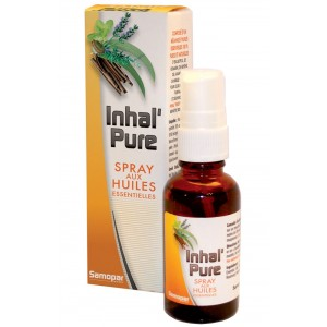 MONAPHARM - INHAL'PURE - SPRAY AUX HUILES ESSENTIELLES 100% PURES ET NATURELLES
