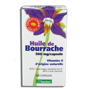 NATURLAND - HUILE DE BOURRACHE - 200 CAPSULES