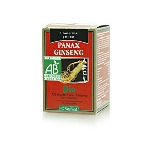 NATURLAND - PANAX GINSENG BIO COMPRIM&Eacute;S