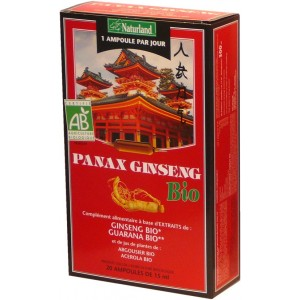 NATURLAND - PANAX GINSENG, GUARANA, ARGOUSIER, AC&Eacute;ROLA BIO
