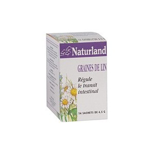 NATURLAND - GRAINES DE LIN - 14 SACHETS DE 6,5 G