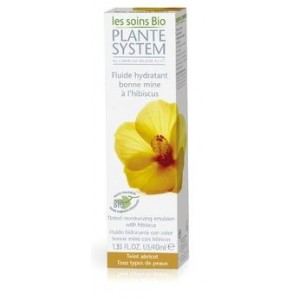 PLANTE SYSTEM - LES SOINS BIO - FLUIDE HYDRATANT BONNE MINE &Agrave; L&#039;HIBISCUS